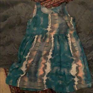 Ecote print mini dress